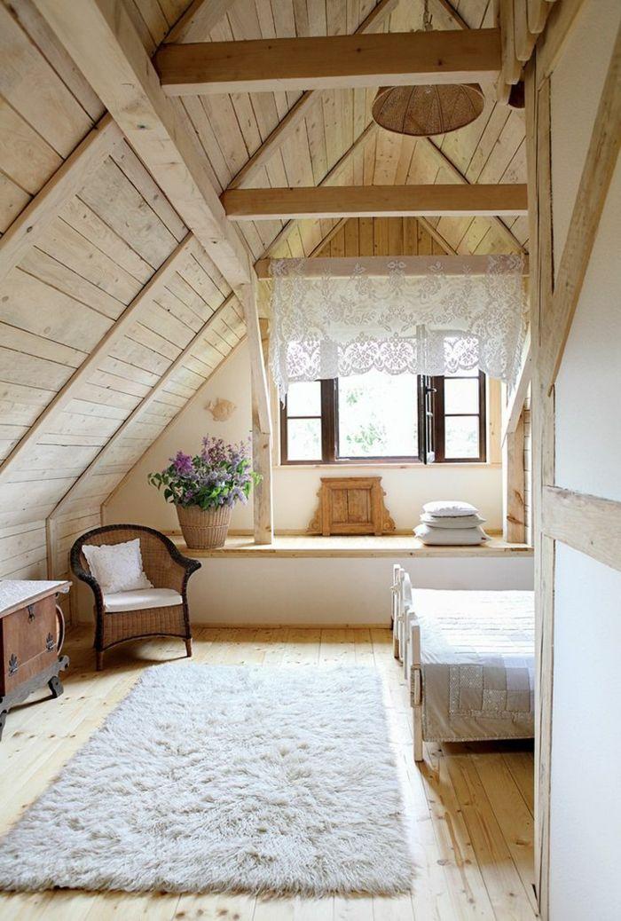 Schlafzimmer herrlicher Look Vintage Dachgeschoss