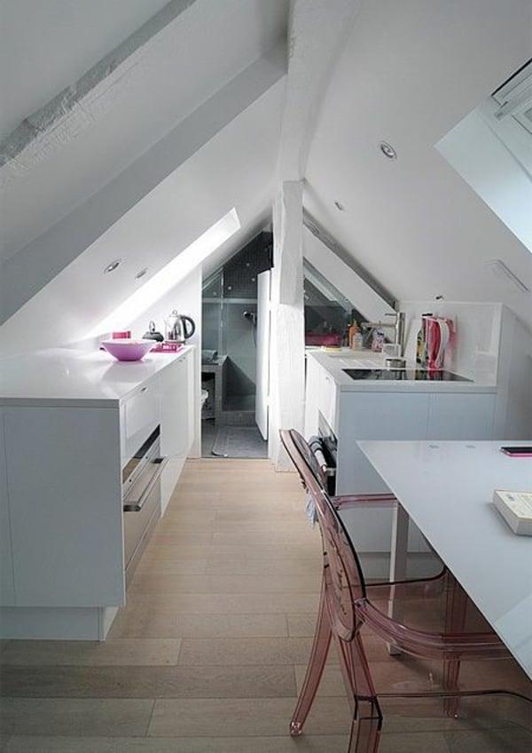 Mansarde Einrichtungsideen Küche
