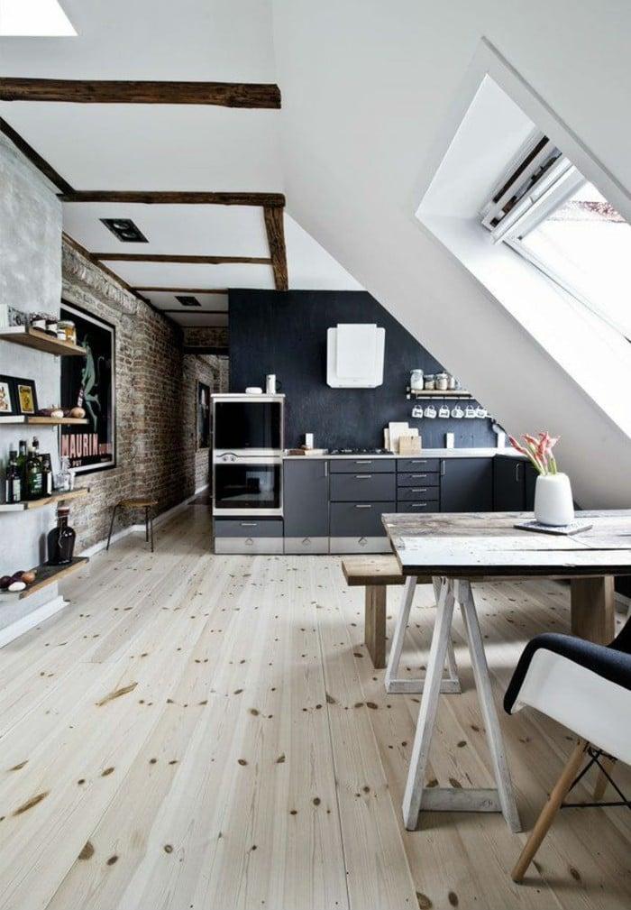 Mansarde Küche praktisch