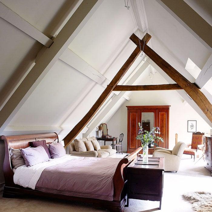 Mansarde Schlafzimmer gemütlich
