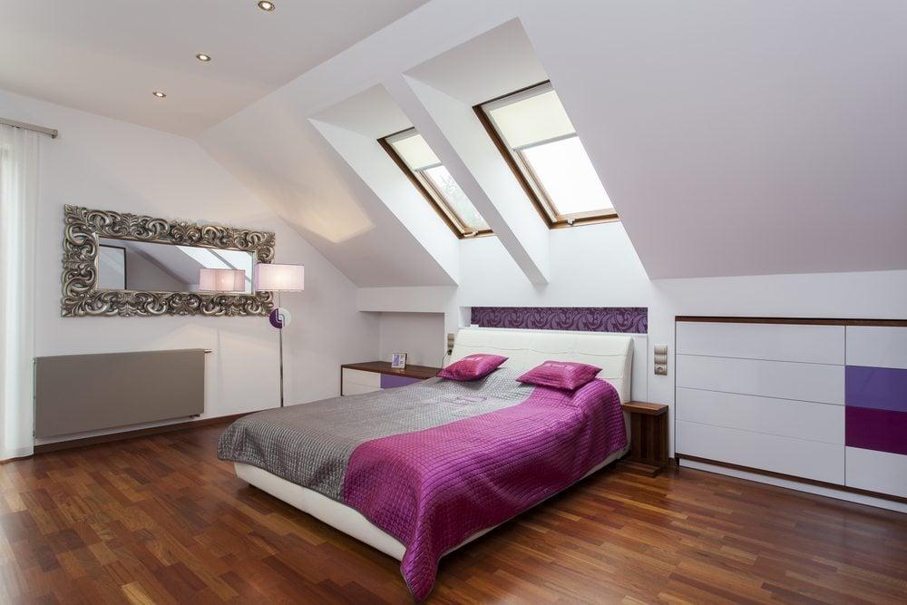 Mansarde Einrichtungsideen Dachschräge Schlafzimmer