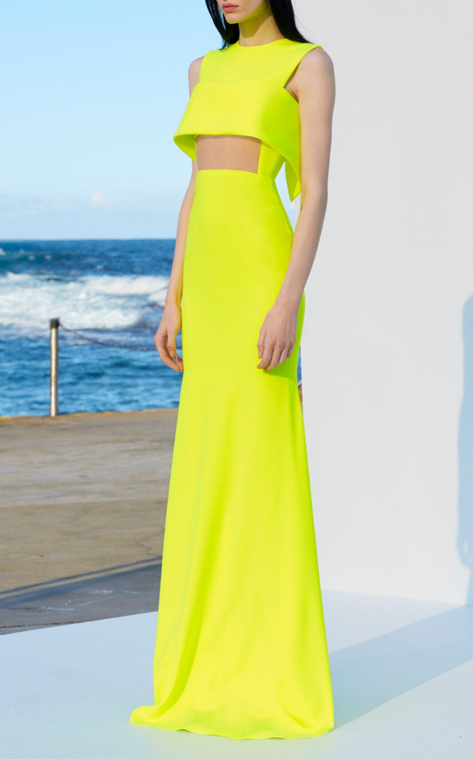 super stilvolles Kleid Neongelb