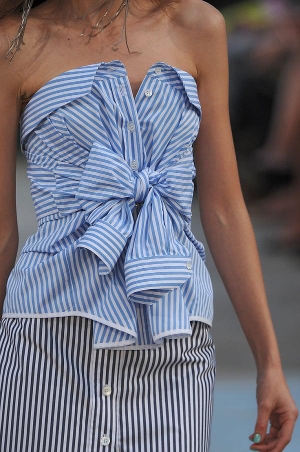 Kleid aus alten Hemden machen stilvoll modern