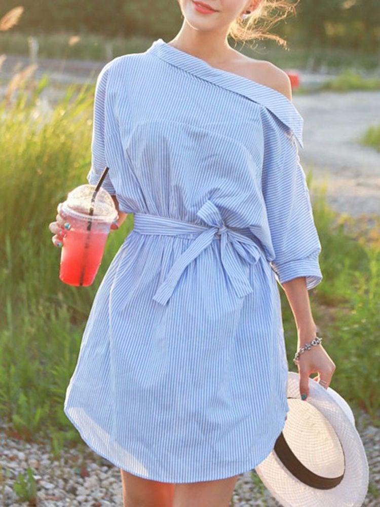 asymmetrisches Kleid aus altem Hemd