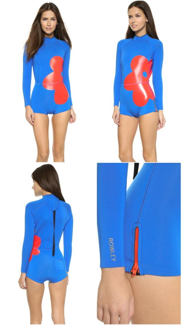 Surfbekleidung Damen kobaltblau