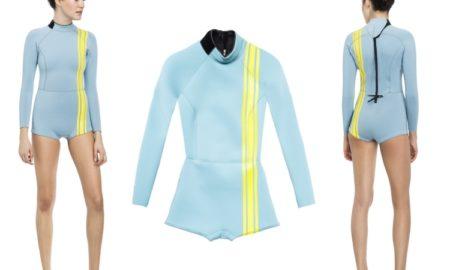 Surfbekleidung Pastellblau Streifen