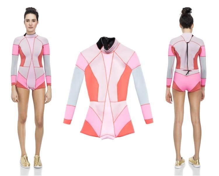 Surfbekleidung geometrische Muster Akzente pink rot
