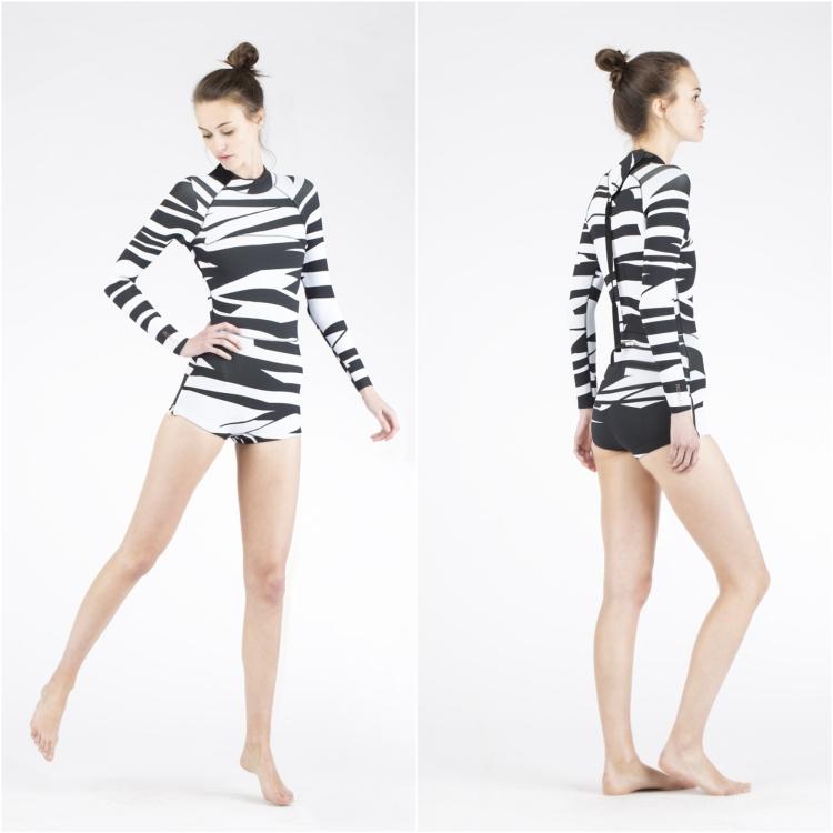 originelle Surfbekleidung Zebra Muster