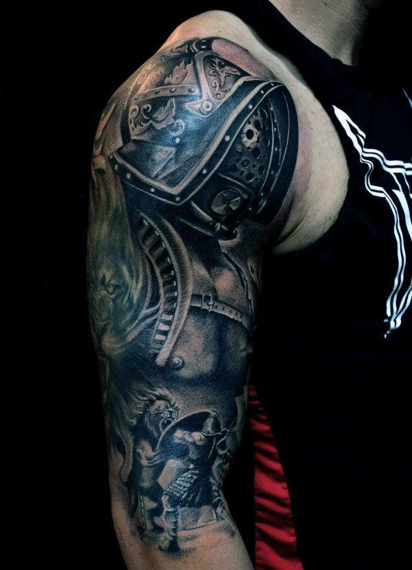 Tattoo Arm Mann Biomechanik