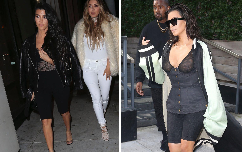 sportliche Hose Kim Kardashian