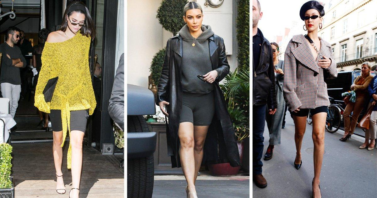 Radlerhosen Damen KIm Kardashian