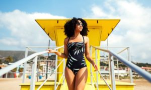 Retro Badeanzug Sommer Modetrend