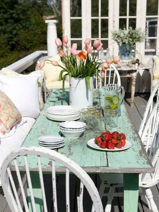 Shabby Garten gestalten - Shabby Veranda dekorieren