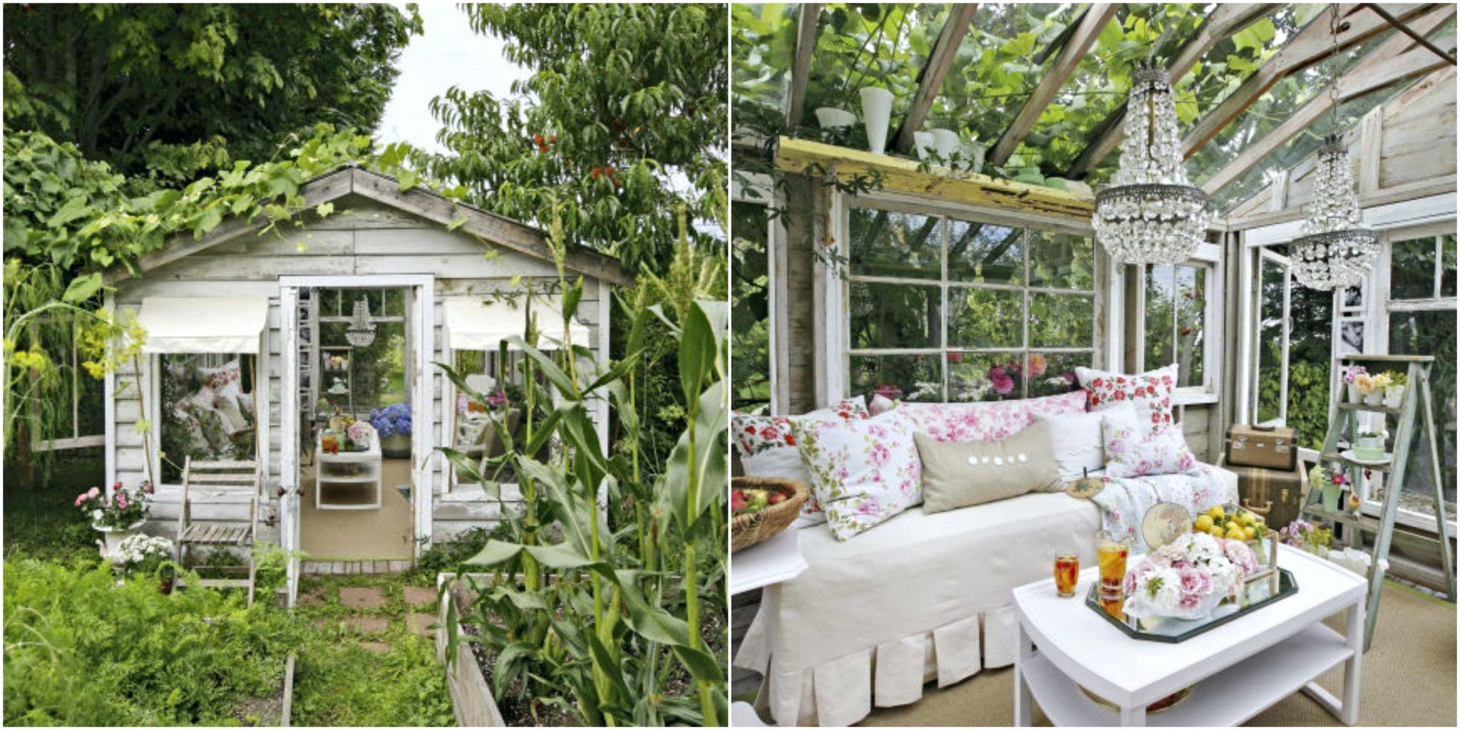 Shabby Chic Garten - Patio Bereich gestalten