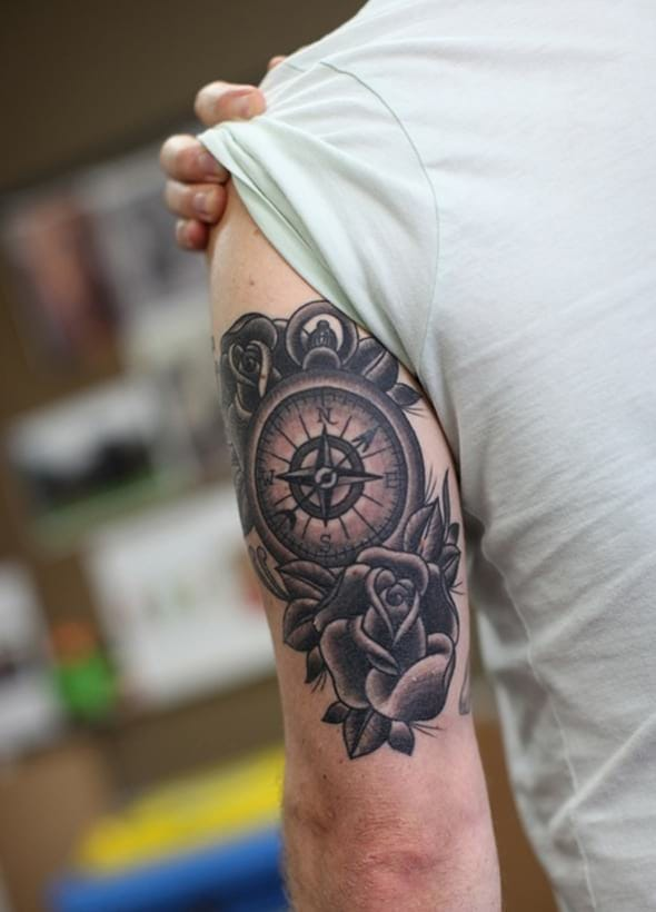 Tätowierung Compass Rose