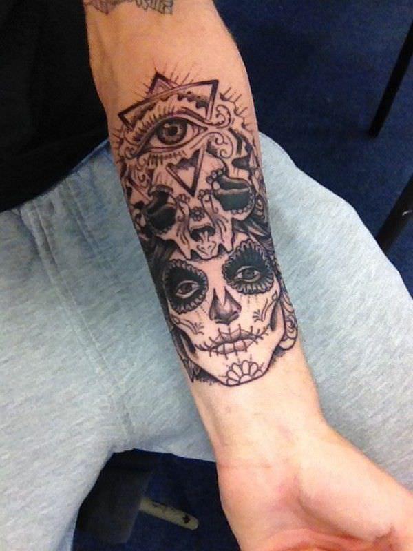 Tattoo Arm Mann originell La Katrina