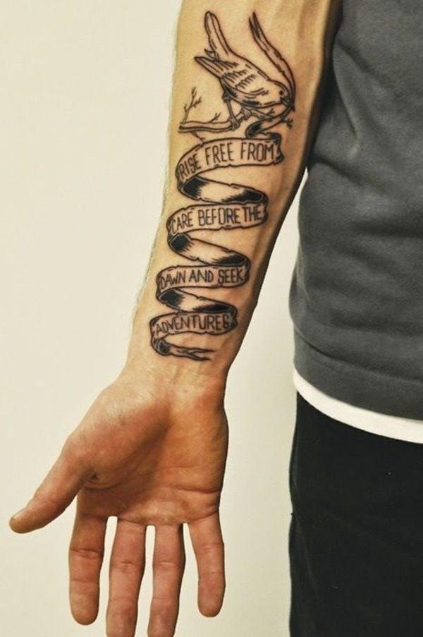 Tattoo Arm Mann Unterarm Schrift