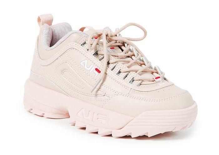 Ugly Sneaker Fila in zartes Rosa