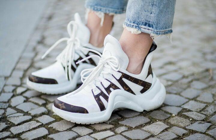 Ugly Sneaker: Luis Vuitton in weiß