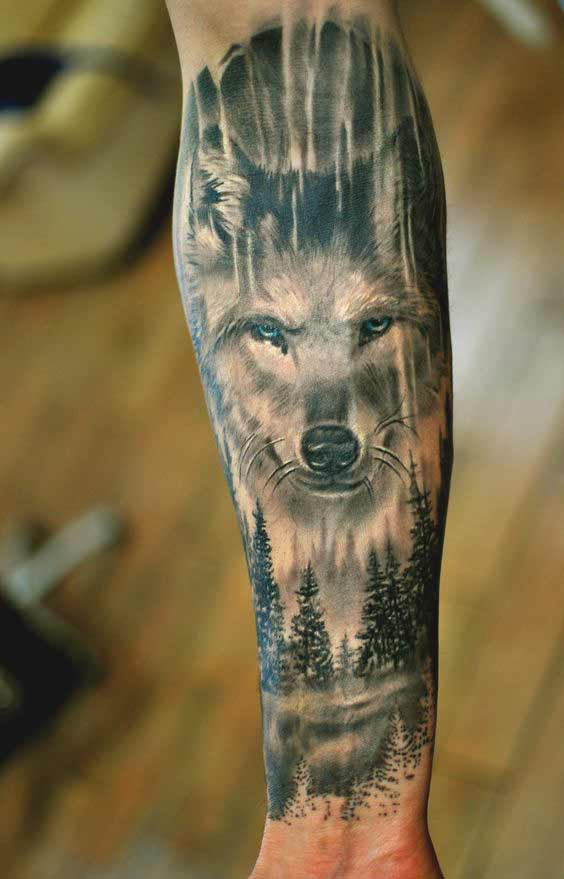 tolles Tattoo Wolf