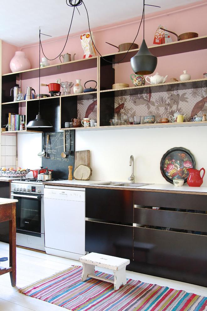 Wandfarbe Altrosa in Küche Design