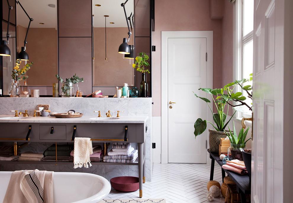 Altrosa Wandfarbe Badezimmer Ideen