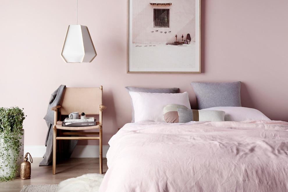 Altrosa Wandfarbe für Schlafzimmer Gestaltung