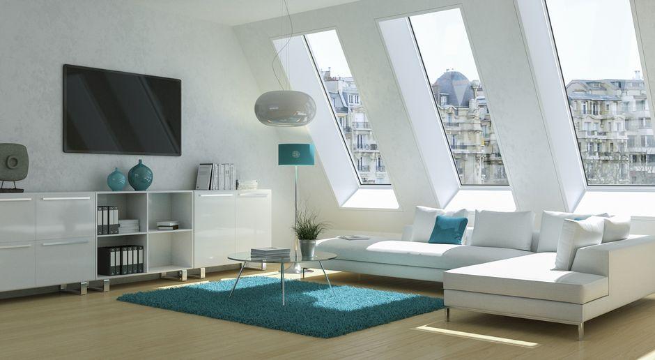 Mansarde Einrichtungsideen Wohnzimmer minimalistisch