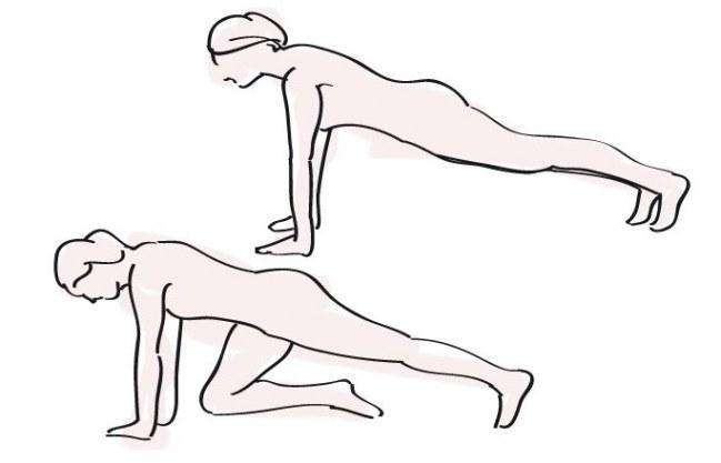 Workout für Zuhause: Anleitung, Schritt 4