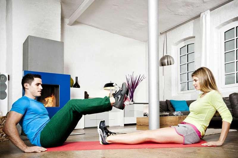 Workout für Zuhause: für Paare