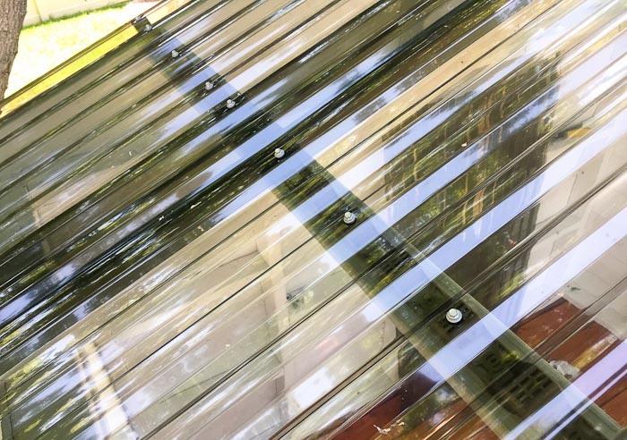 Gartenspielhaus Dach Acrylplatten