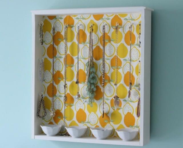 Schmuckaufbewahrung DIY alte Schublade Tapeten
