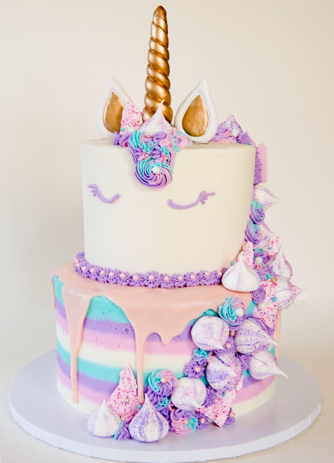 Ausgefallene Kuchen für Kindergeburtstag - Einhorn Torte