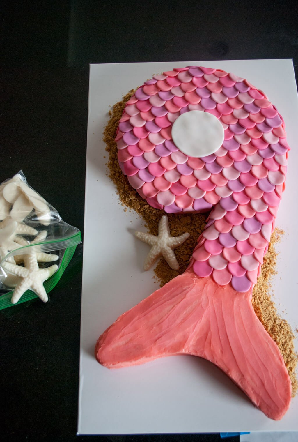 Ausgefallene Kuchen für Kindergeburtstag - Geburtstagstorte Meerjungfrau selber machen