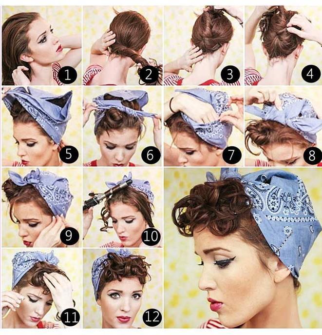Bandana binden Vintage Frisur romantisch