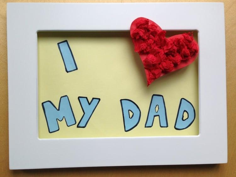 Vatertagsgeschenke basteln mit Kindern Ideen für den besten Vater der Welt