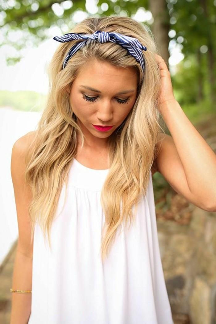 Bandana binden stilvoll blonde Haare