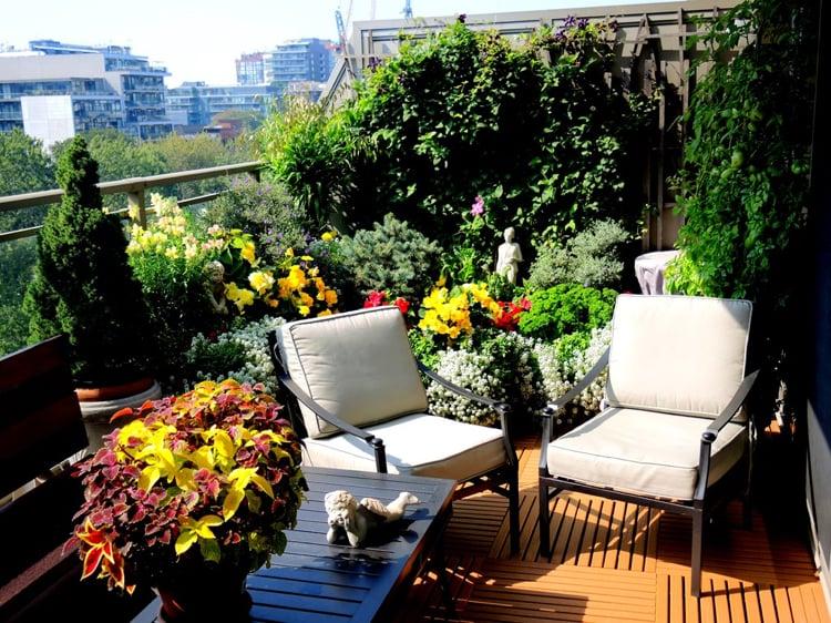 Balkon bepflanzen Ideen und Anregungen