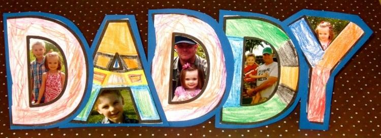 Vatertagsgeschenke basteln mit Kindern originelle Collage machen