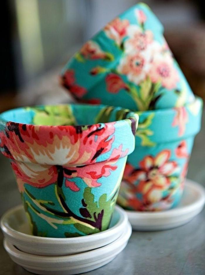 Serviettentechnik Blumentöpfe herrlicher Look