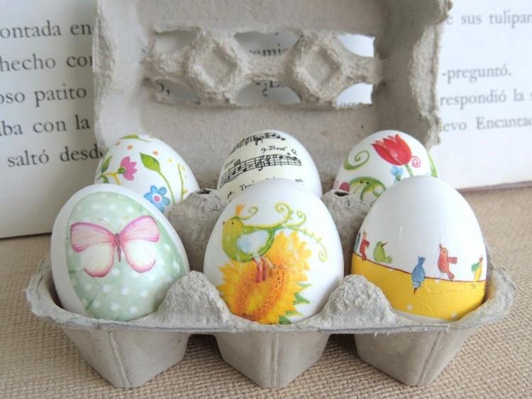 Serviettentechnik Eier verzieren Ostern