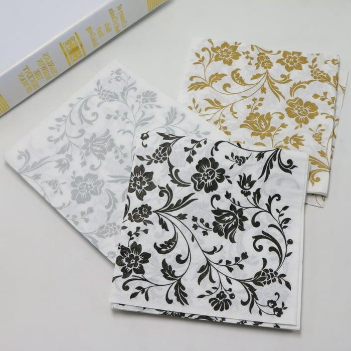 Servietten auswählen florale Motive