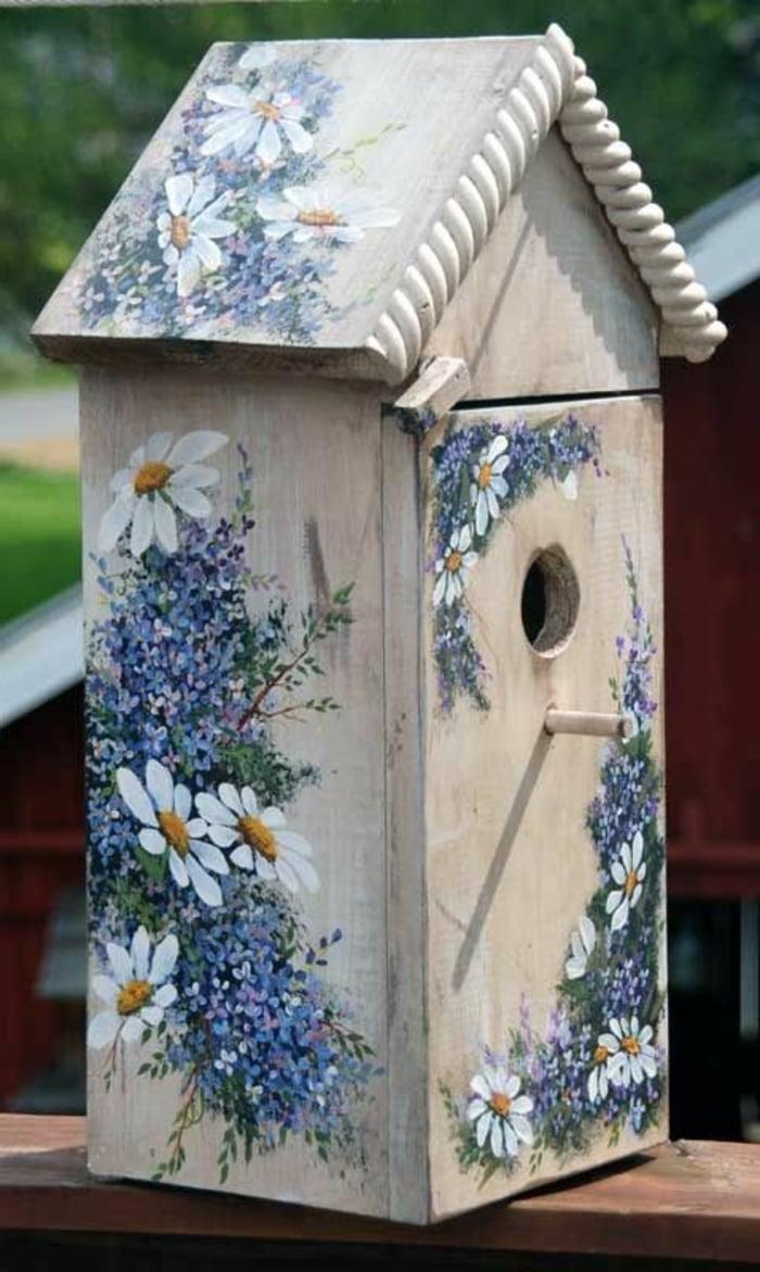 Serviettentechnik Vogelfutterhaus verschönern