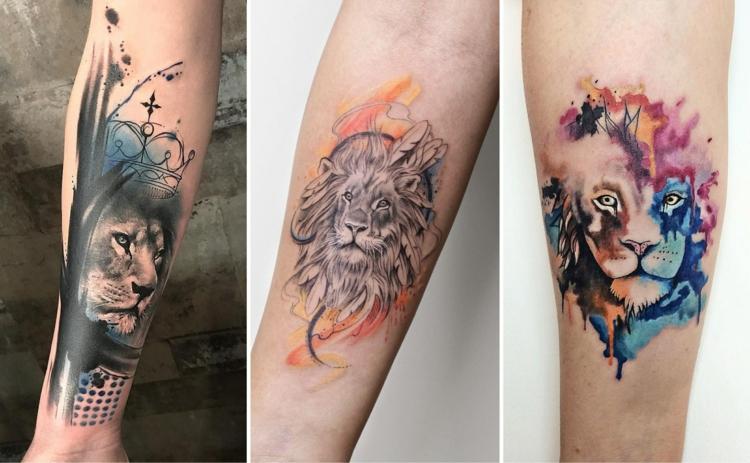 Löwen Tattoo moderne Designideen