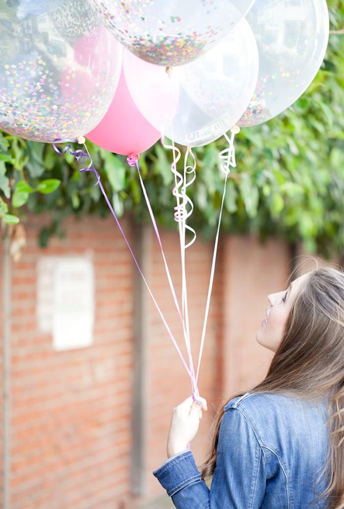 Geld schenken Hochzeit Luftballons
