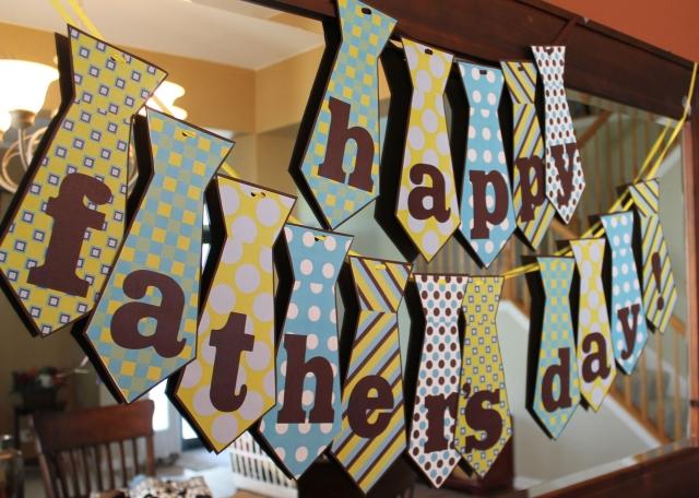 Vatertagsgeschenke basteln mit Kindern tolle Girlande
