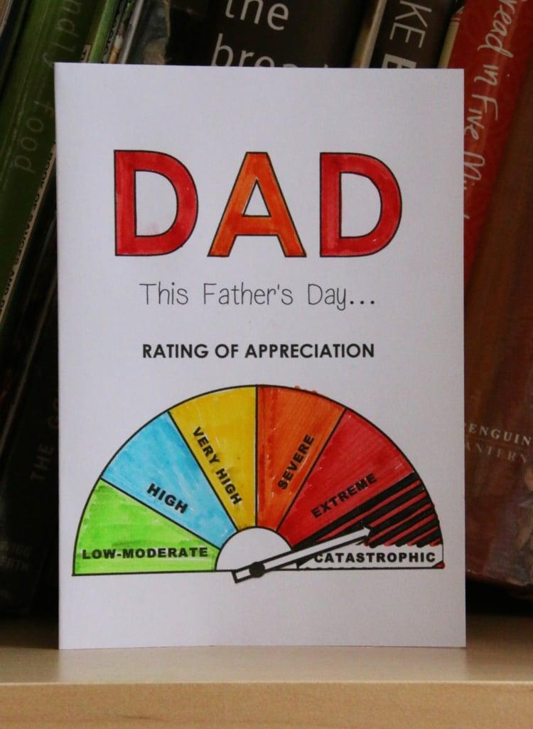 Vatertagsgeschenke basteln mit Kindern Grußkarte kreativ mit Barometer