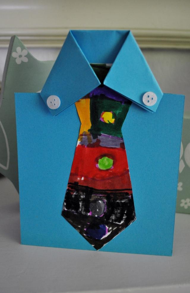 Grußkarte zum Vatertag Krawatte aus Karton
