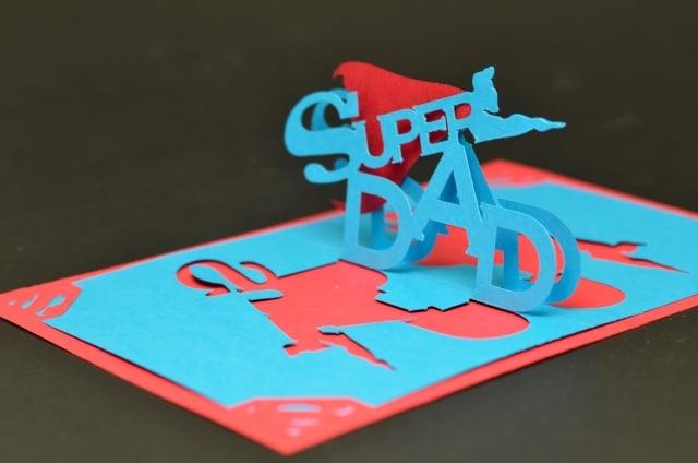 Grußkarte 3D für den besten Vater