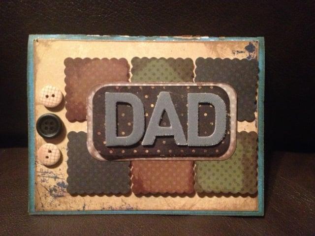 Vatertagsgeschenke basteln mit Kindern originelle Grußkarte